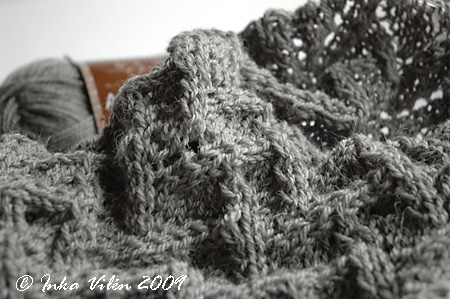 Grey Novita Luxus Alpaca and lace
