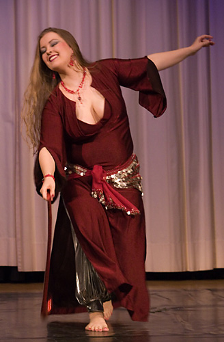 performing in the renewed saidi dress
