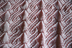 pink sweater closeup